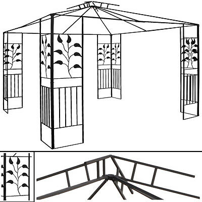 ersatzgestell pavillon toskana 3x3m pavillion ersatzgest nge ohne dach 3x3 zelt pavillons. Black Bedroom Furniture Sets. Home Design Ideas
