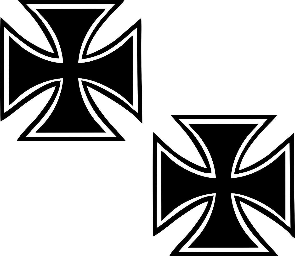 Iron Crossskulleisernes Kreuz Aufkleberoldschoolkult