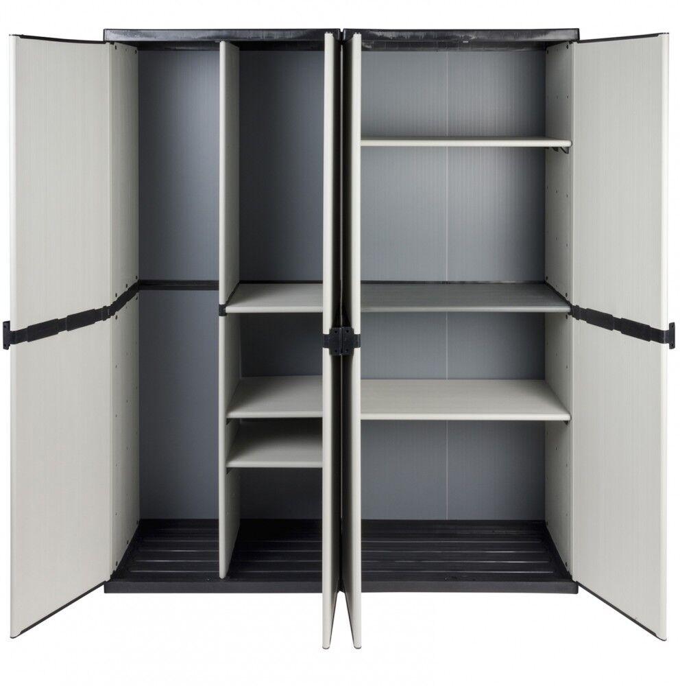 2 st ck kunststoffschrank spindschrank besenschrank gartenschrank schrank spind schr nke. Black Bedroom Furniture Sets. Home Design Ideas