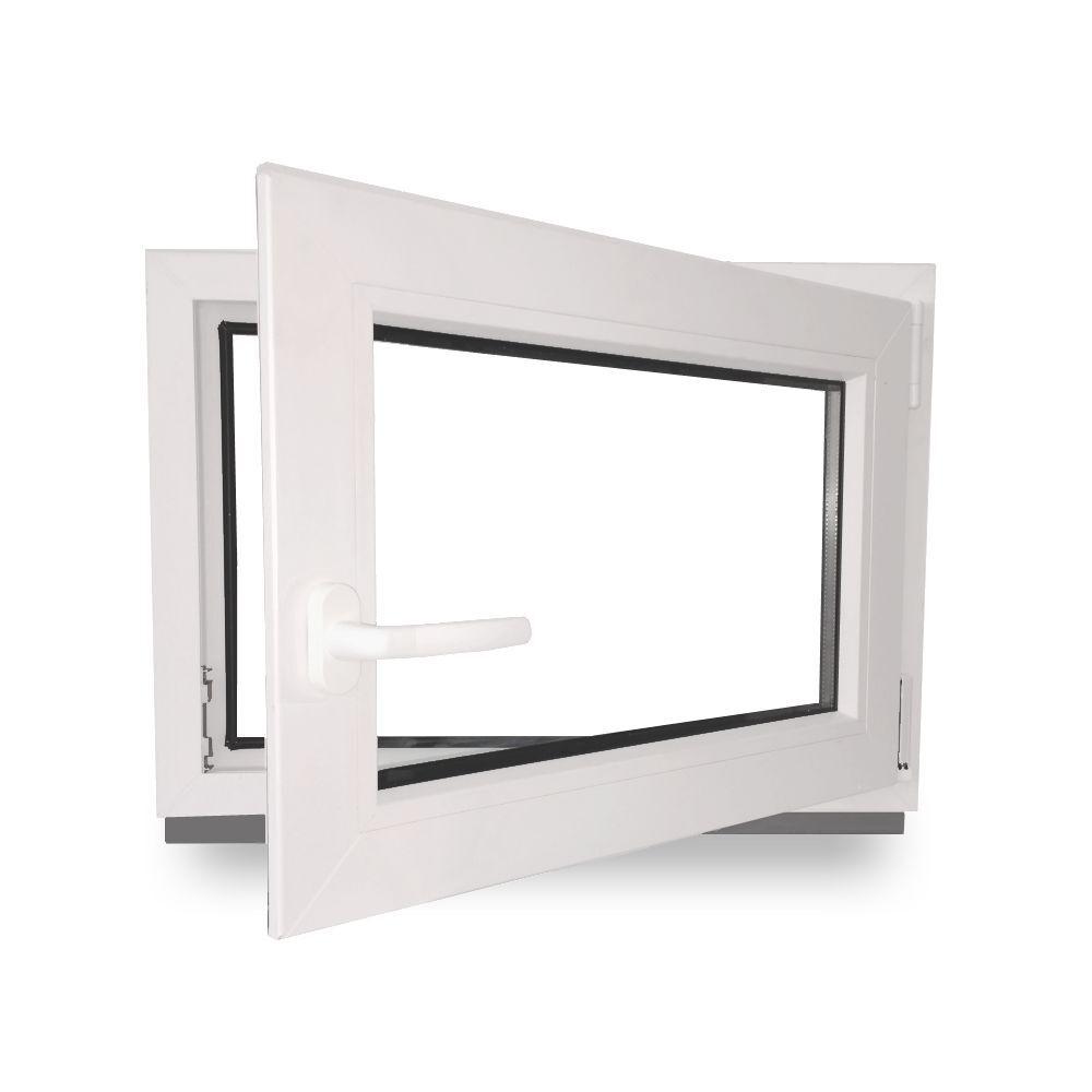 kunststoff fenster kellerfenster garagen fenster 3 fach verglast 60 mm lagerware fenster. Black Bedroom Furniture Sets. Home Design Ideas