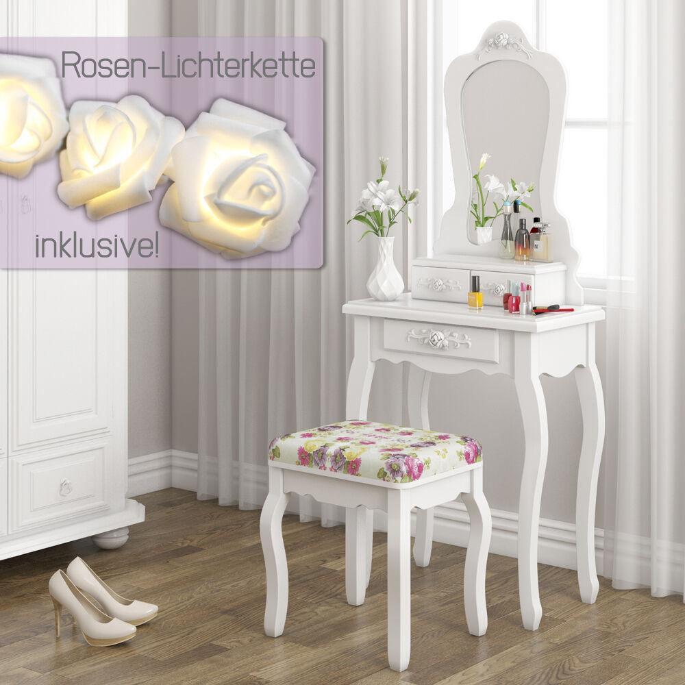 schminktisch hocker kosmetiktisch frisierkommode frisiertisch spiegel princess schminktische. Black Bedroom Furniture Sets. Home Design Ideas