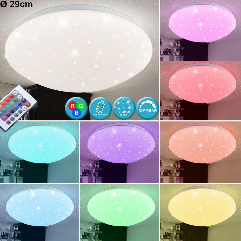 RGB LED Deckenlampe FERNBEDIENUNG Wohnzimmer Leuchte DIMMBAR Durchmesser 29 cm