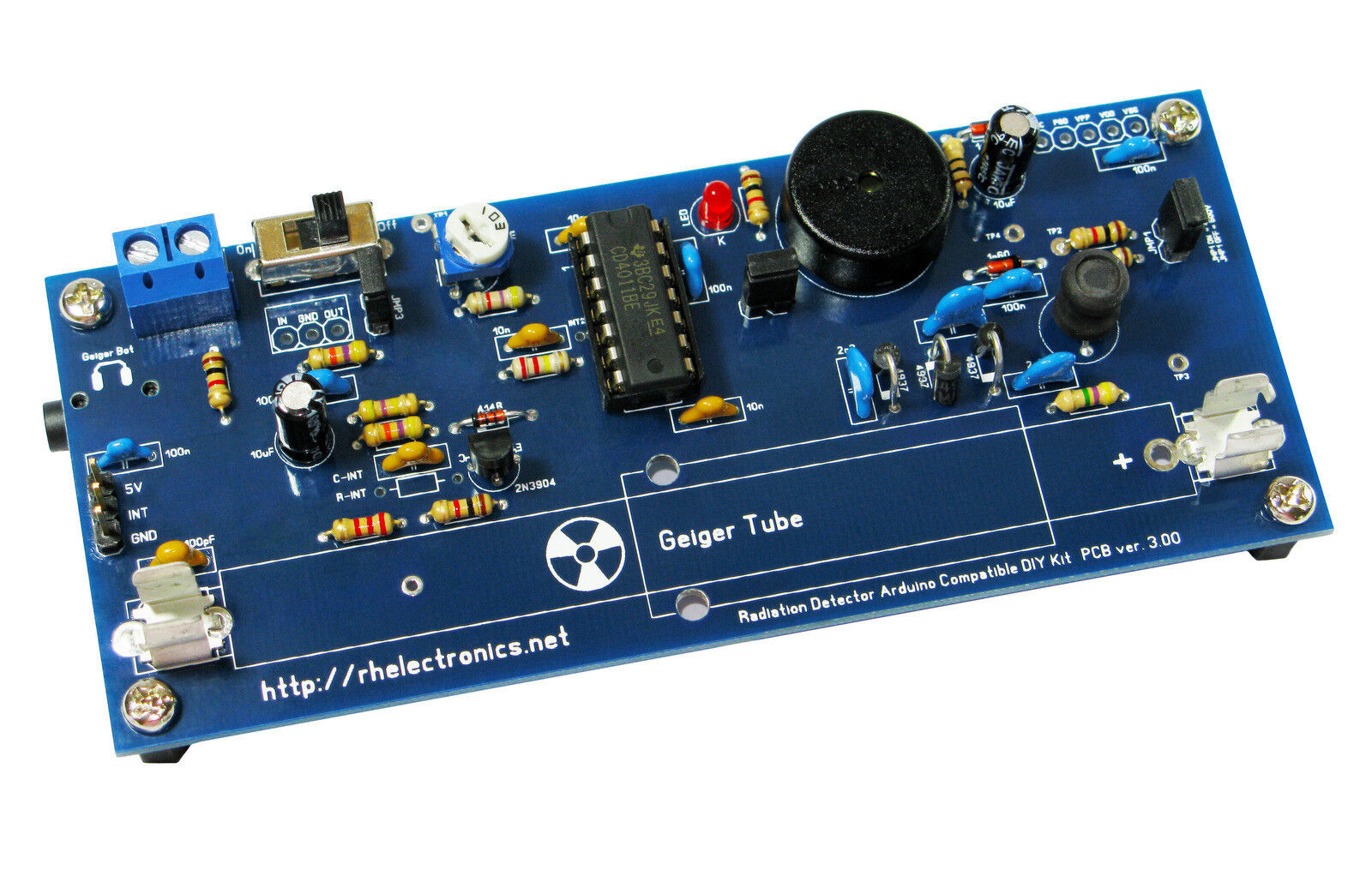 Diy geiger counter kit nuclear radiation detector for