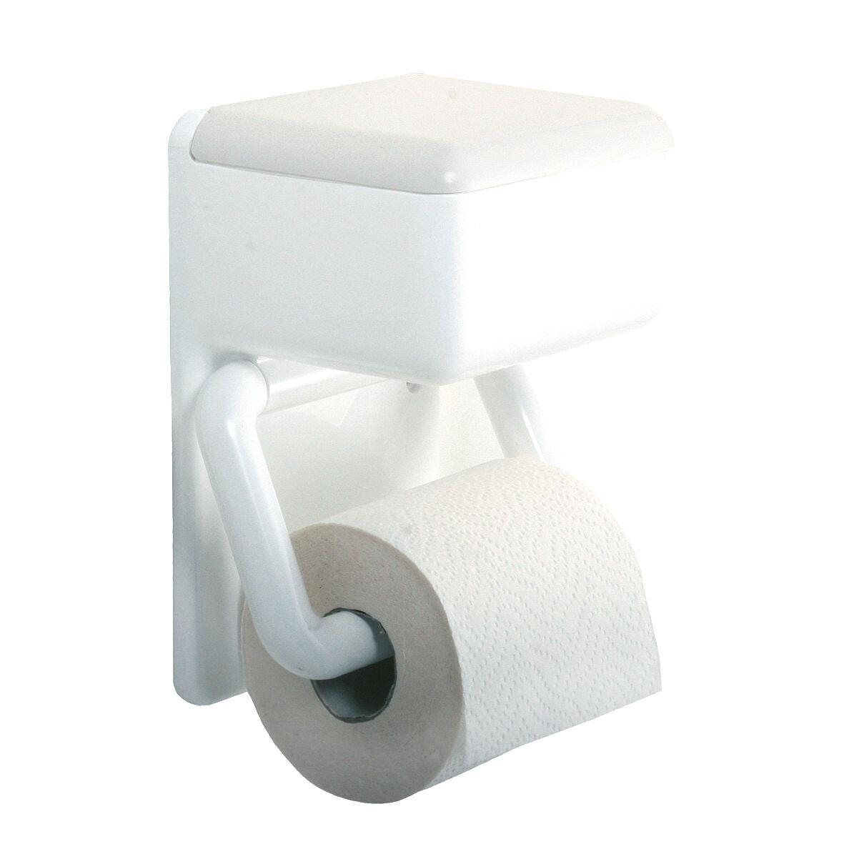 wenko wc papierhalter mit feuchttuchbox toilettenpapier halter toilettenpapierhalter. Black Bedroom Furniture Sets. Home Design Ideas