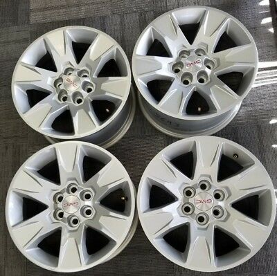 "2017 Gmc Canyon Wheel Bolt Pattern >> 17"" GMC CANYON FACTORY OEM SILVER ALLOY WHEELS RIMS 17x8 2015-2017 