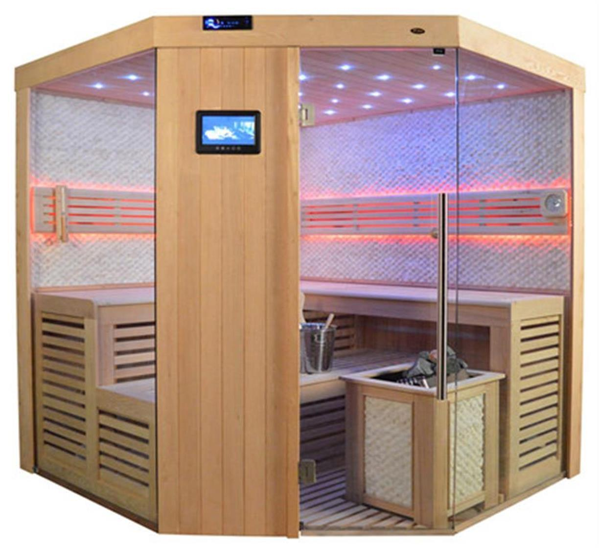 sauna sauna komplett massivholz vs 4024 bio 220 220 videosauna superpreis saunen sauna. Black Bedroom Furniture Sets. Home Design Ideas