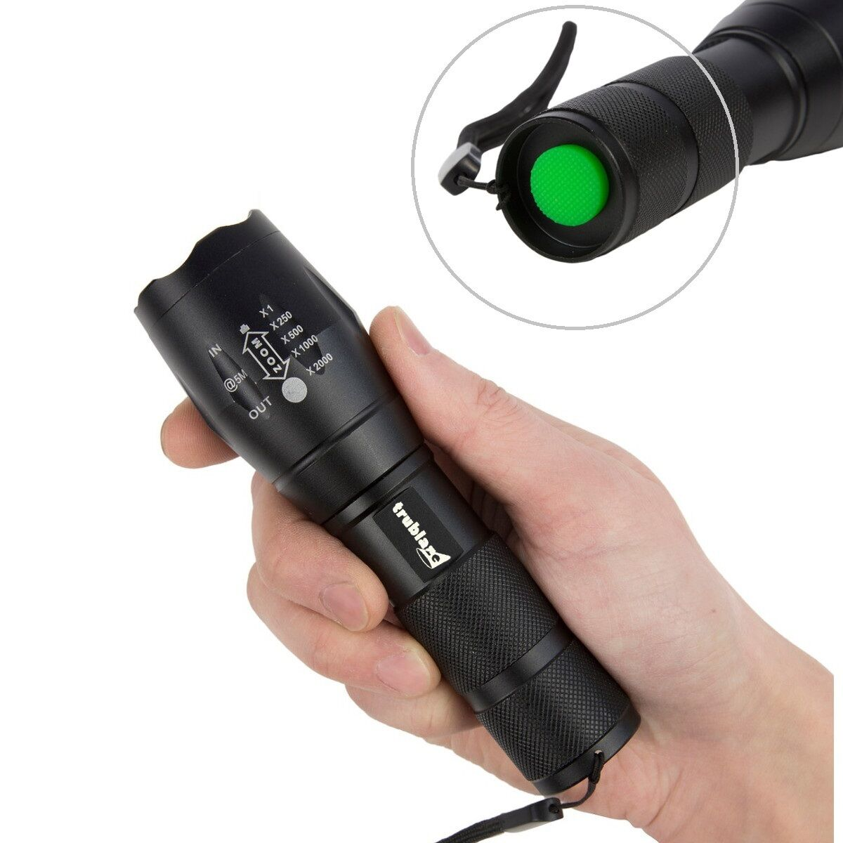 CREE LED Torch Military Zoom Flashlight Spotlight Powerful ...