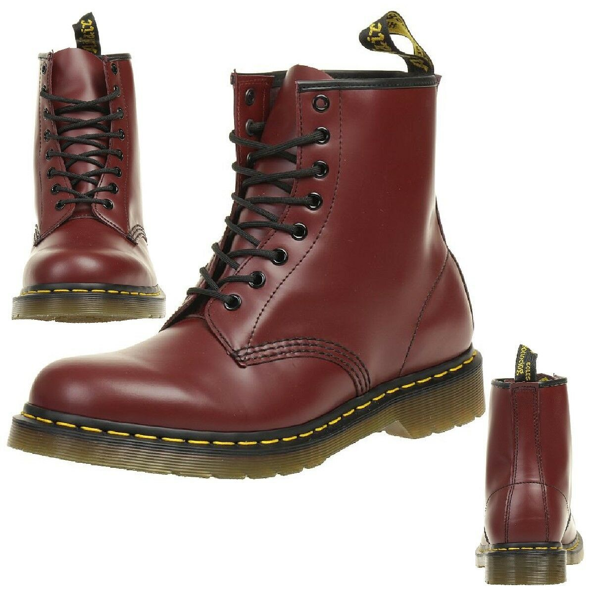 dr martens 1460 cherry red smooth boots stiefel rot. Black Bedroom Furniture Sets. Home Design Ideas