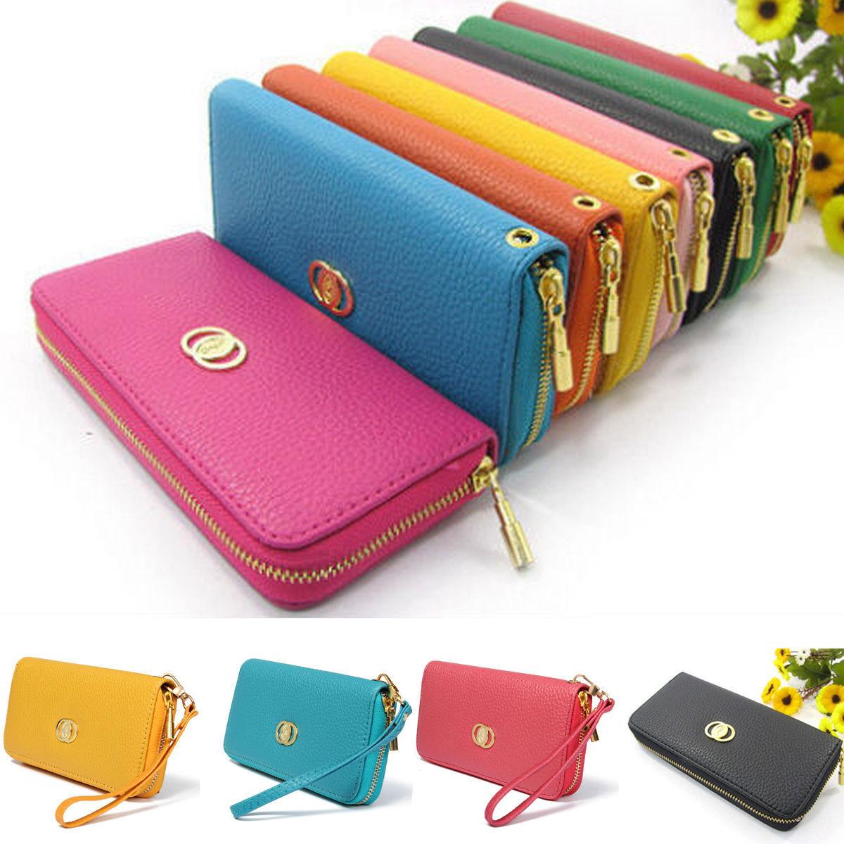 Ladies Women Fashion Clutch Zipper Wallet Long Handbag ...
