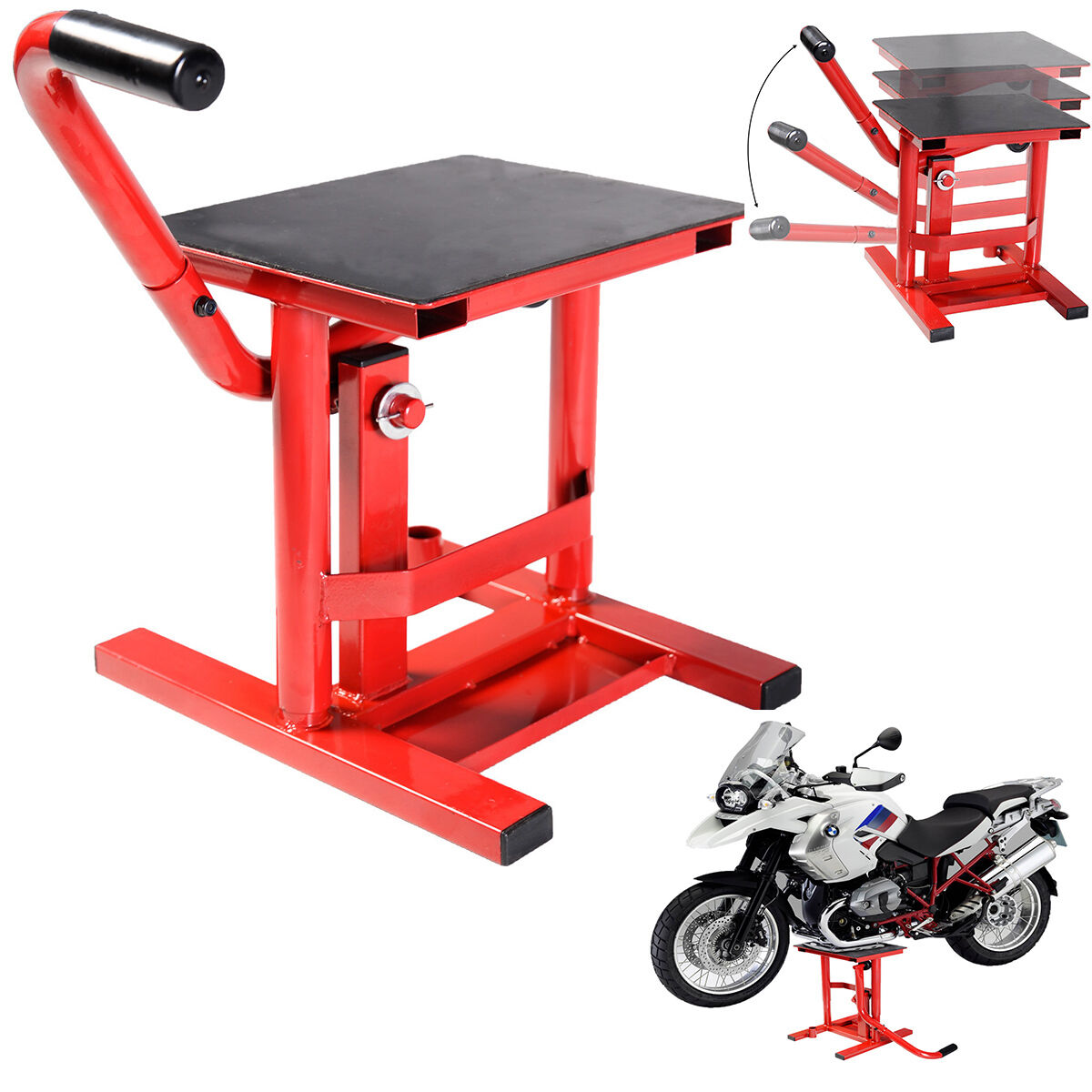 dirt bike motocross motorcycle lift stand moto x mx maintenance steel enduro lifts jacks. Black Bedroom Furniture Sets. Home Design Ideas