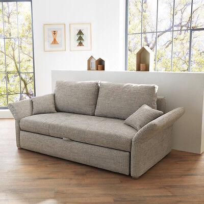 funktionssofa luca sofa f r dauerschl fer in grau mit bettfunktion 140 cm schlafsofas sofas. Black Bedroom Furniture Sets. Home Design Ideas