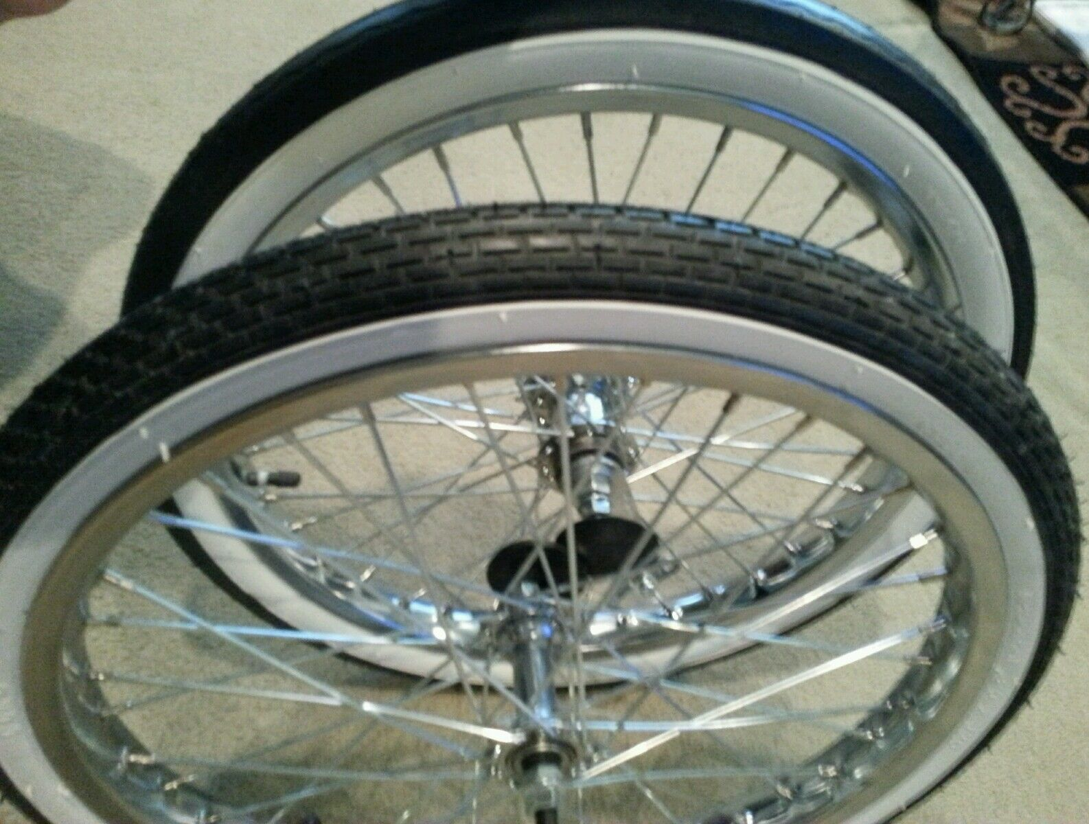2 new 20 bicycle rims tires tubes schwinn stingray for Bicycle rims