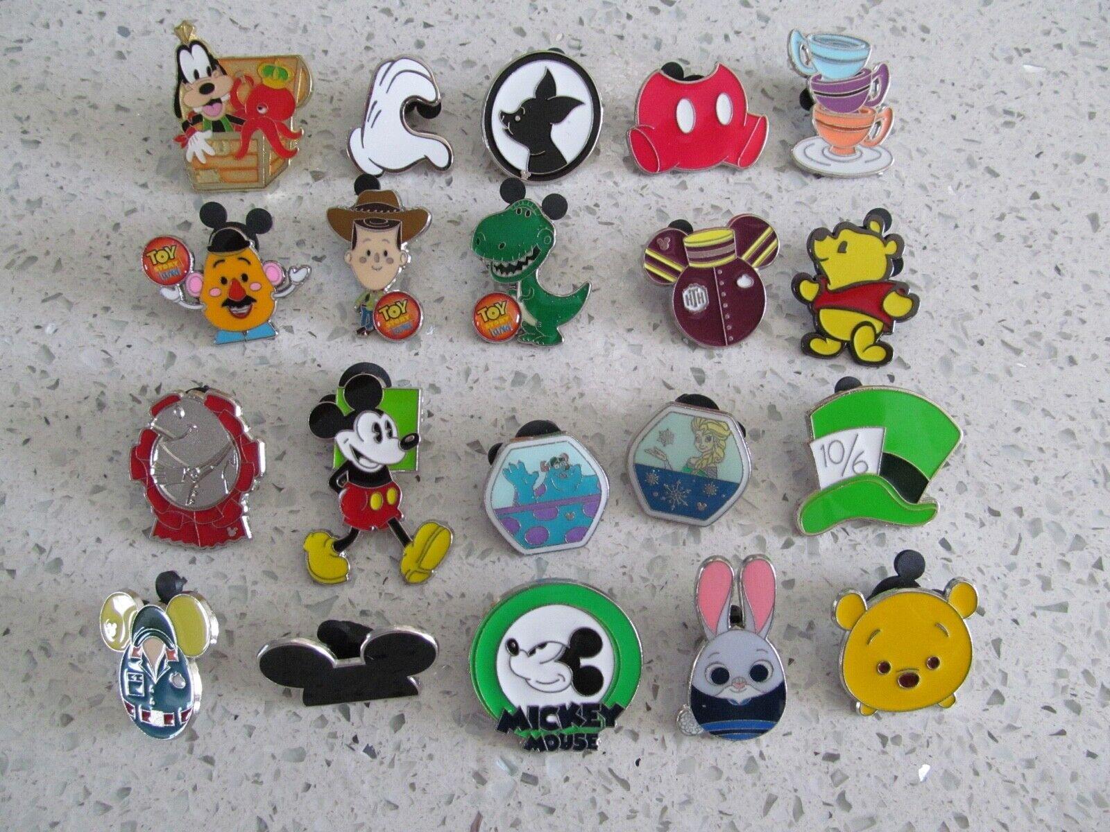 Disney Trader Pins Lot of 20 Disneyland Disney World Lanyard Pins