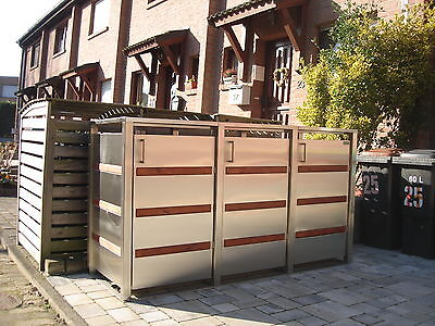 m lltonnenbox gracja 3 240 edelstahl m llbox tonnenhaus m llcontainer m lltonnen. Black Bedroom Furniture Sets. Home Design Ideas