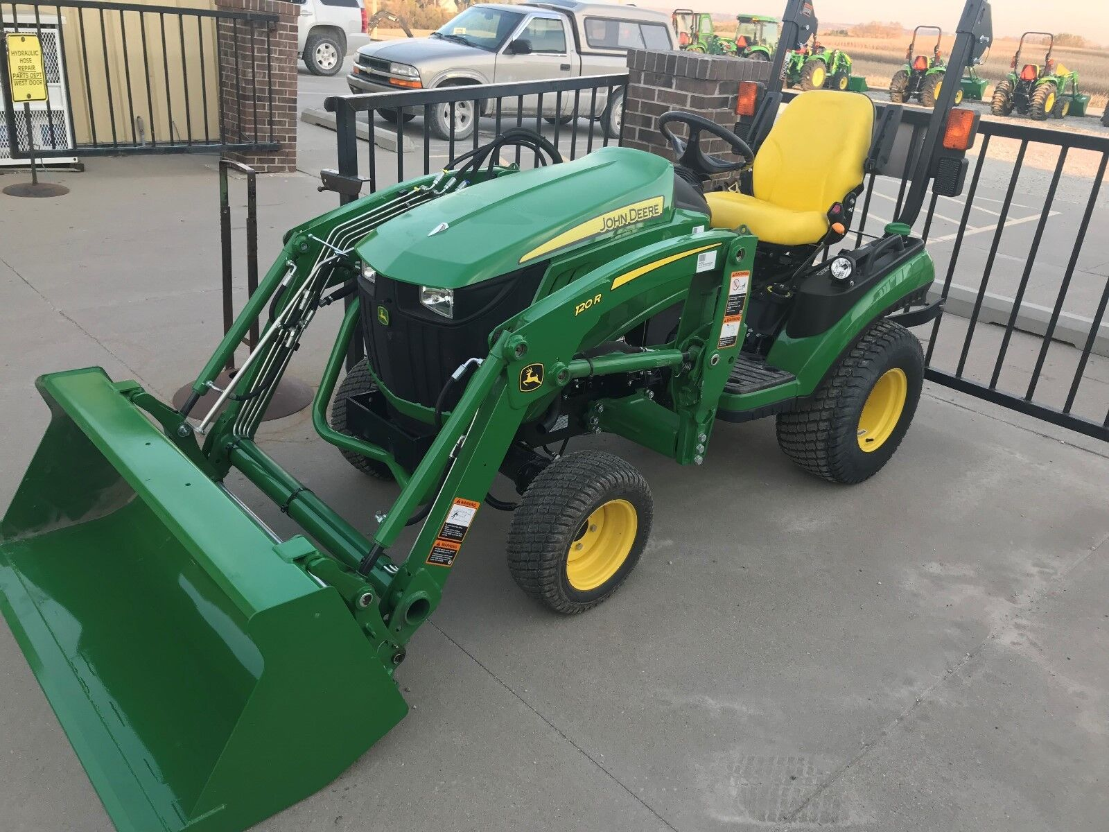 John Deere Compact Tractor Attachments : John deere r compact tractor with loader