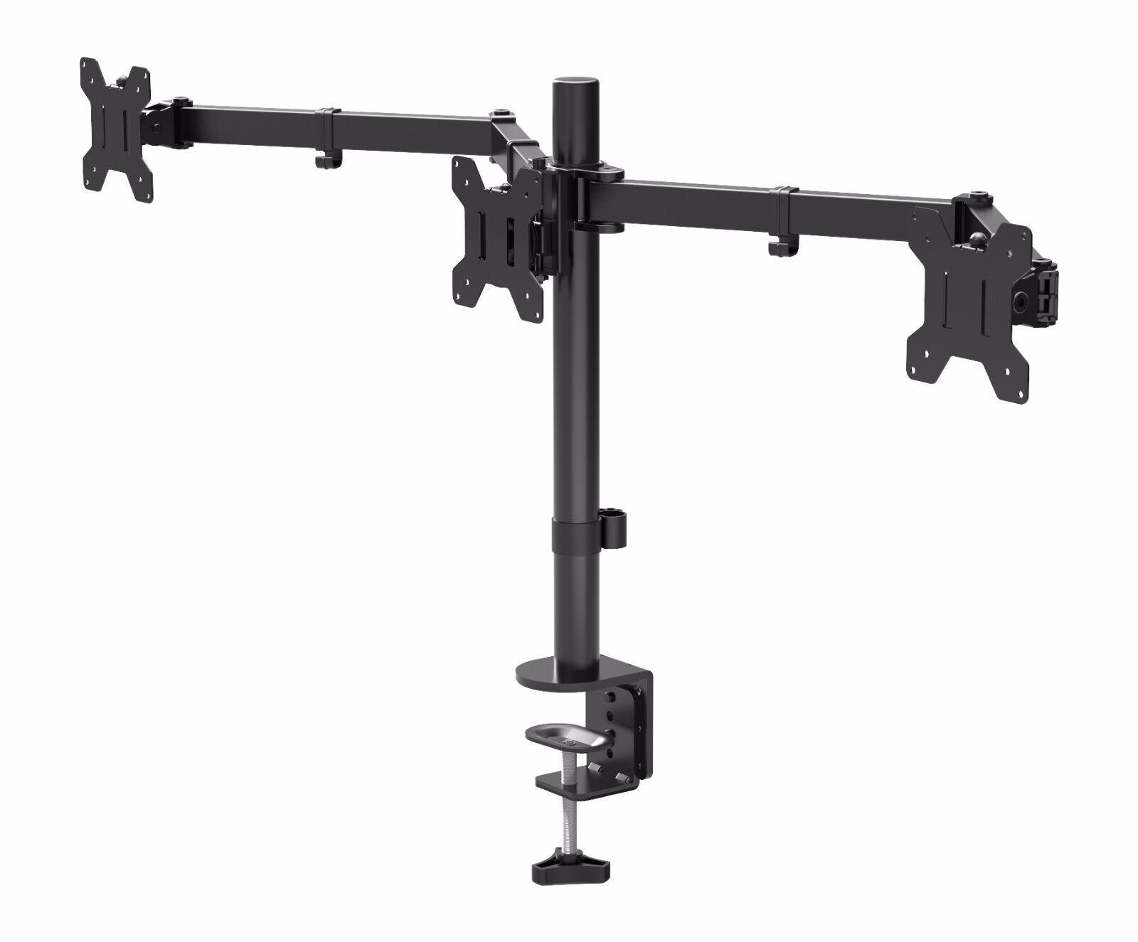 Triple Arm Desk Mount Lcd Led Computer Monitor Bracket