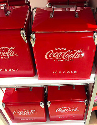 Coca cola coke retro cooler ice chest carrier with for 1 door retro coke cooler