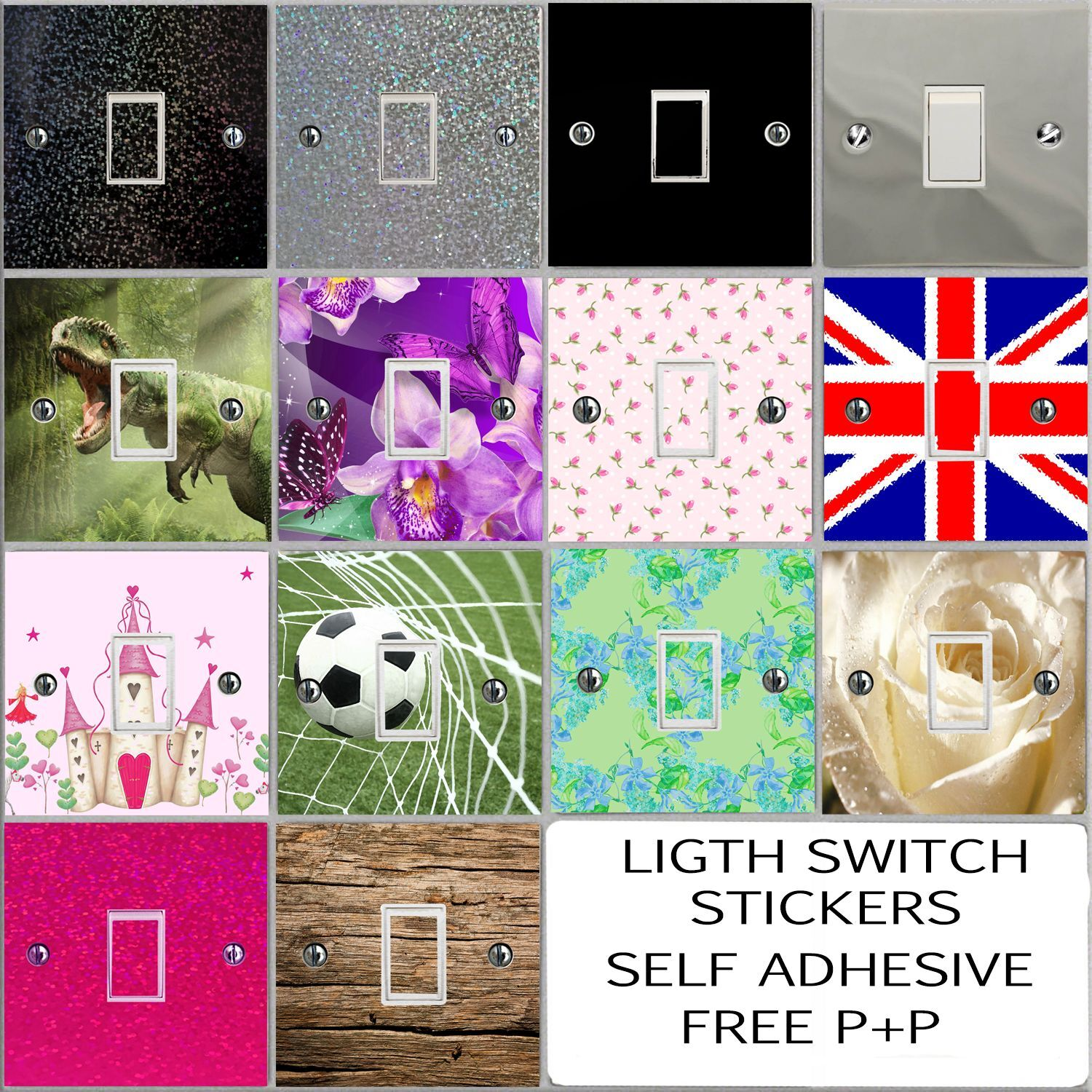 Glitter And Gloss Vinyl Light Switch Sticker Cover Decal