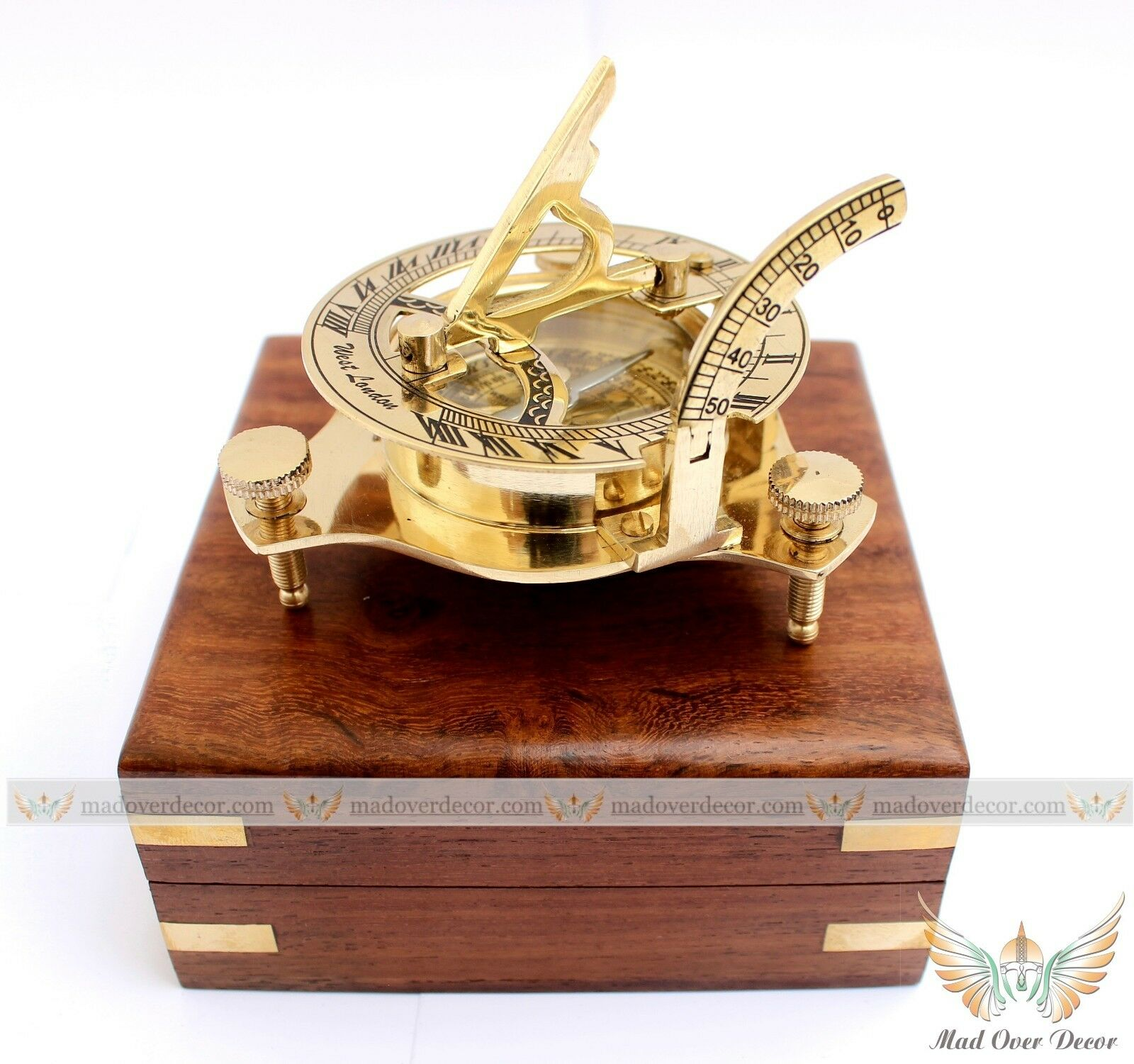 nautical home decor gifts vintage maritime west antique brass sundial compass 11674