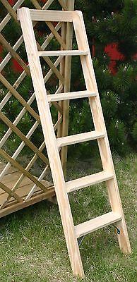 anlegeleiter 5 12 stufen holz deko holzleiter stufenleiter hochbett leiter leitern werkzeug. Black Bedroom Furniture Sets. Home Design Ideas