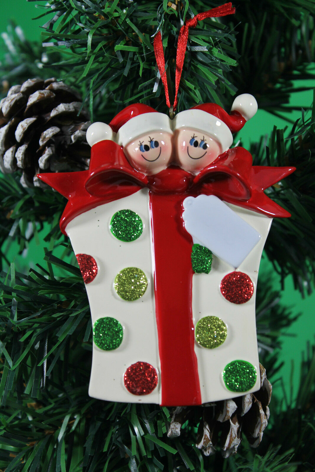 Personalised family of 2 3 4 5 6 7 christmas tree ornament for Personalised christmas decorations