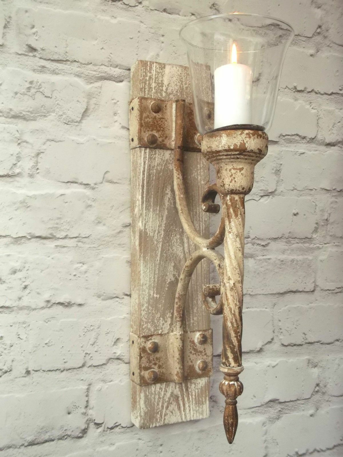 french shabby chic wall sconce candle holder antique. Black Bedroom Furniture Sets. Home Design Ideas