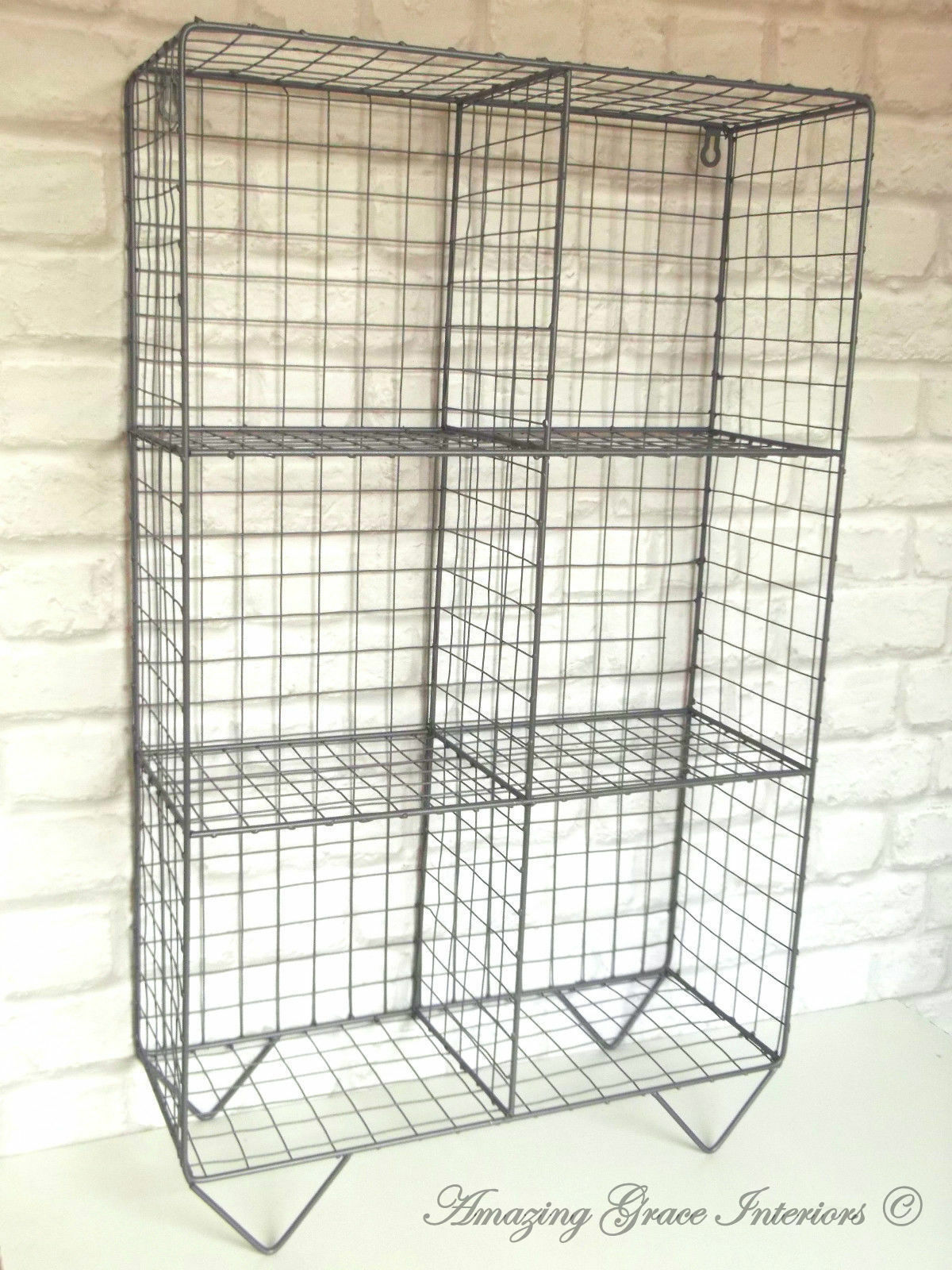 wire cabinet shelf vintage industrial style metal shelf unit rack storage 29323