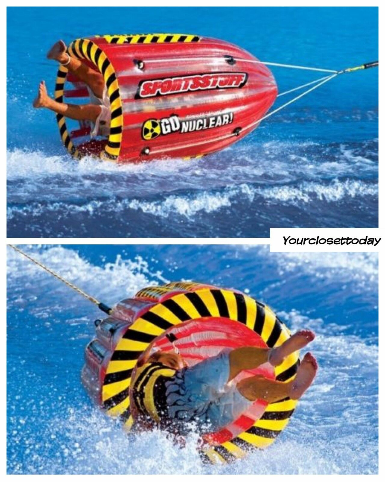 Water Floats And Tubes ~ Nw spin towable tube inflatable float water sport raft