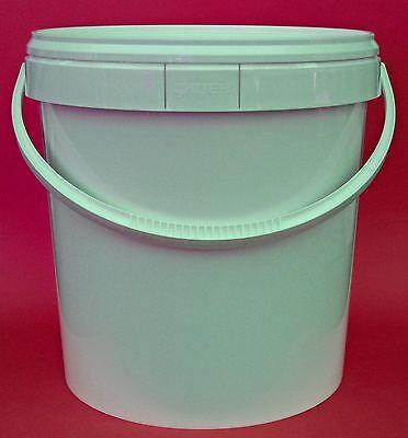 20 liter eimer mit deckel kunststoffeimer m deckel und henkel 20l beh lter dosen. Black Bedroom Furniture Sets. Home Design Ideas