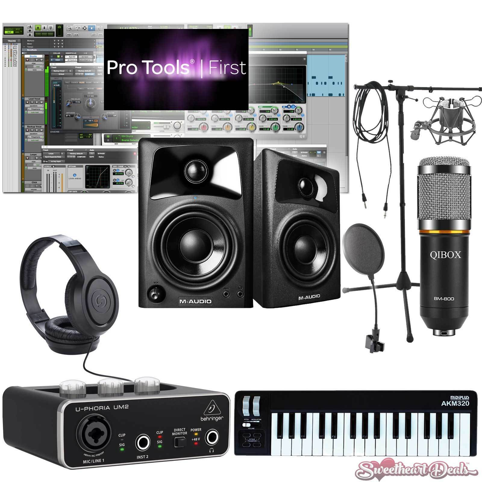 Home recording pro tools bundle studio package midi 32 m for Music studio design software