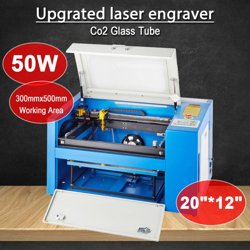 50w Co2 Laser Engraving Machine Engraver Cutter With
