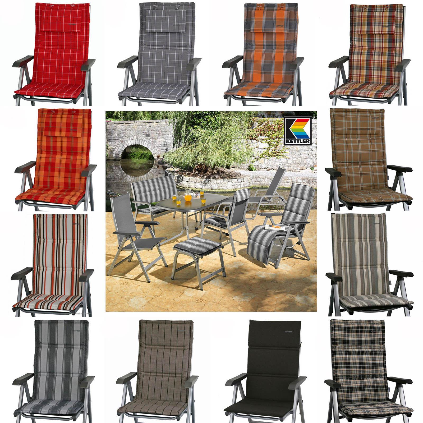14 farben zur wahl kettler auflagen f r hochlehner sessel und basic plus wave auflagen. Black Bedroom Furniture Sets. Home Design Ideas