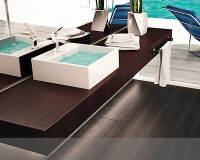 Mensola per lavabo d 39 appoggio in 50 colori su misura piano - Piano in legno per bagno ...