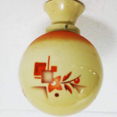 30er jahre bauhaus kugel lampe spritz dekor plafoniere glas art deco vintage lampen leuchten. Black Bedroom Furniture Sets. Home Design Ideas