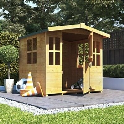 Childrens fun wendy house playhouse wooden garden storage for Wooden wendy house ideas