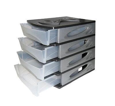 Cassettiera plastica 4 cassetti componibile resina for Contenitori leroy merlin
