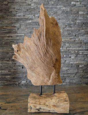Teak Holzskulptur Wurzel Holzkunst Treibholz Kunst Statue