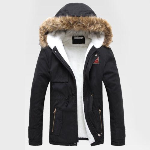 no l promotion homme manteau veste d 39 hiver col en fourrure parka capuche blazer manteaux. Black Bedroom Furniture Sets. Home Design Ideas