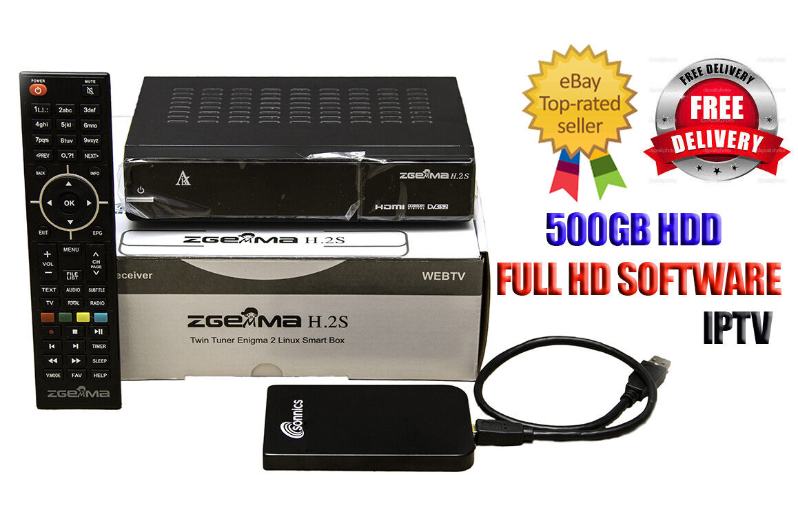 Zgemma star H 2S Satellite Receiver 500GB hard drive 12