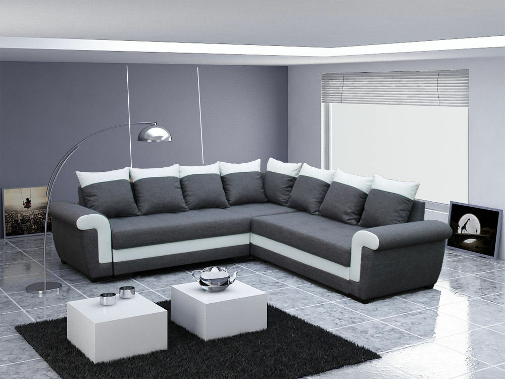 ecksofa ivett 2a2 mit schlaffunktion eckcouch sofagarnitur. Black Bedroom Furniture Sets. Home Design Ideas