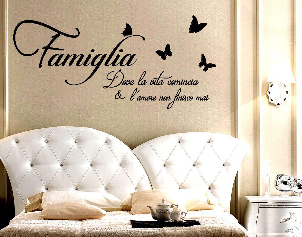 Adesivi Murali Vasco Rossi.Adesivi Murali Famiglia Dove La Vita Comincia Frase Adesivo Wall