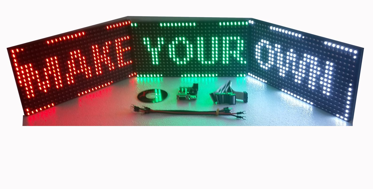 led sign diy kit 2 p10 led panels experimenting and learning led led sign business signs. Black Bedroom Furniture Sets. Home Design Ideas
