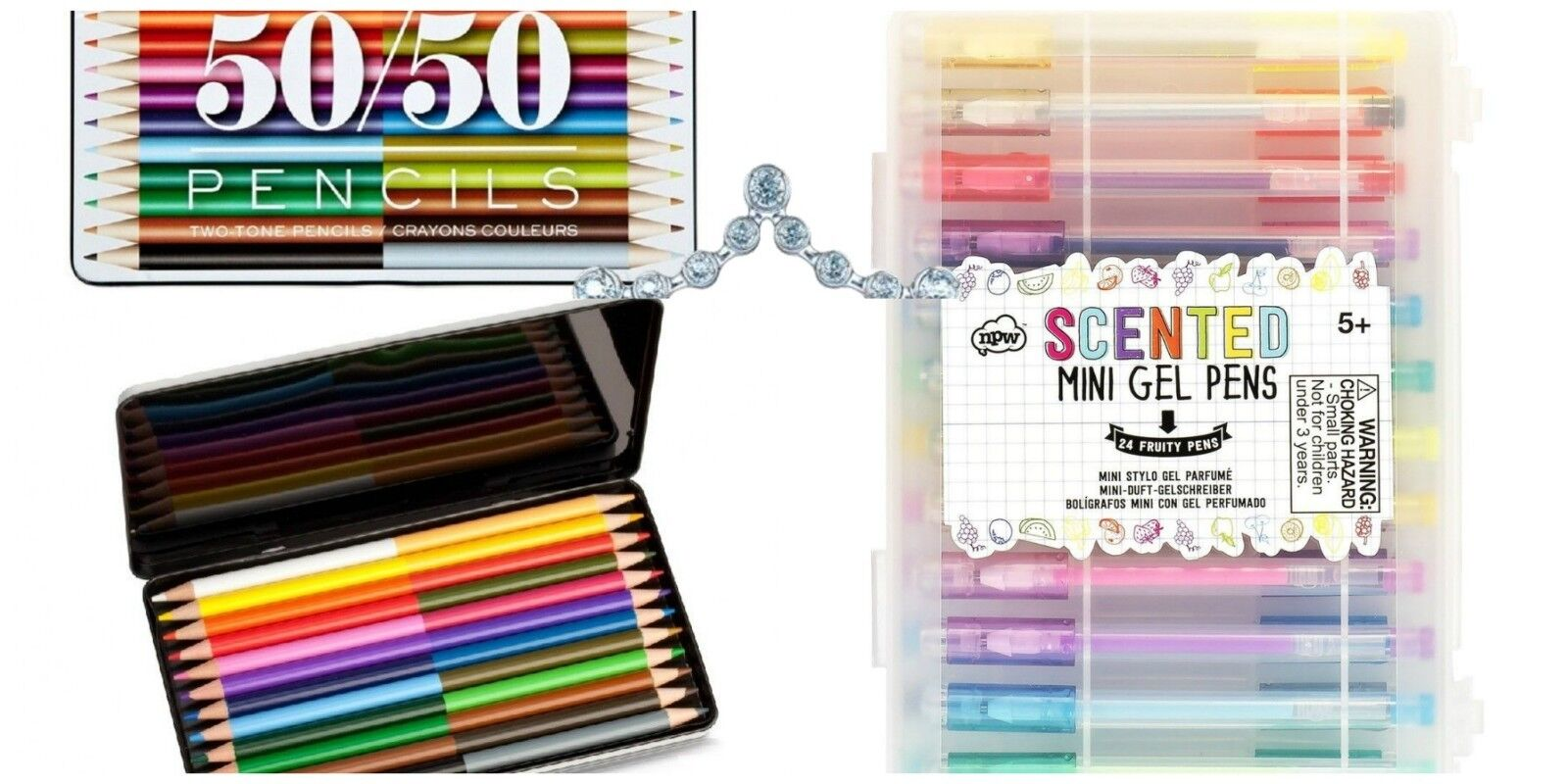NPW Two Toned Colored Pencils OR 12pk Scented Gel Pens 24pk