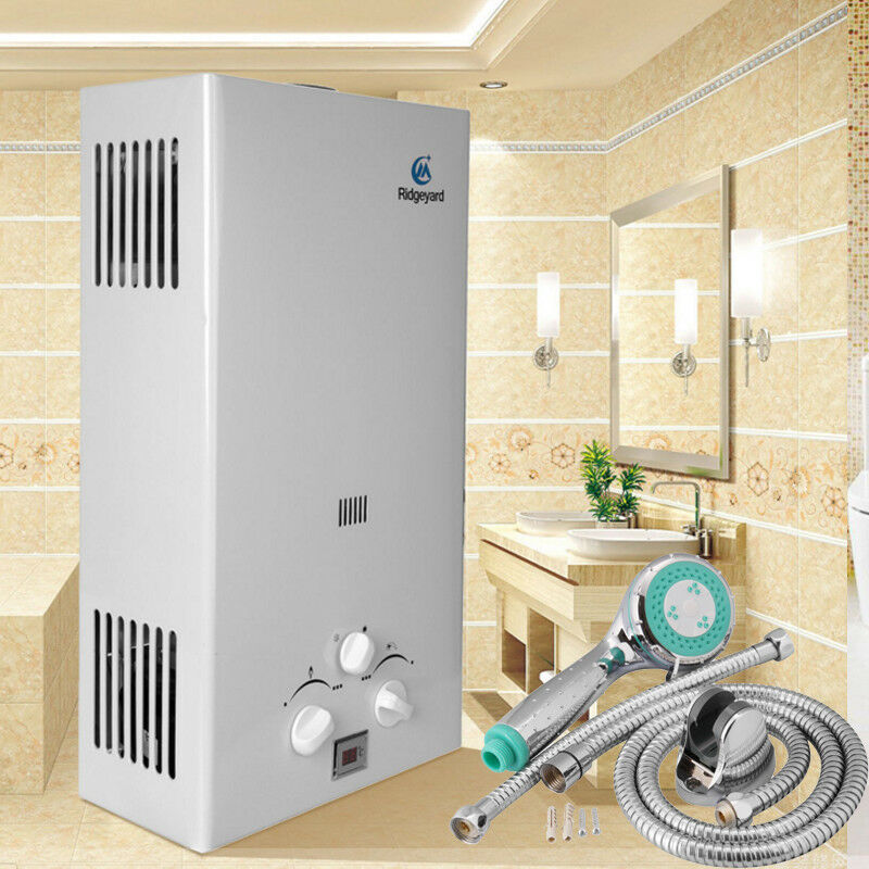 10l gas durchlauferhitzer propangas warmwasserbereiter boiler warmwasserspeicher. Black Bedroom Furniture Sets. Home Design Ideas