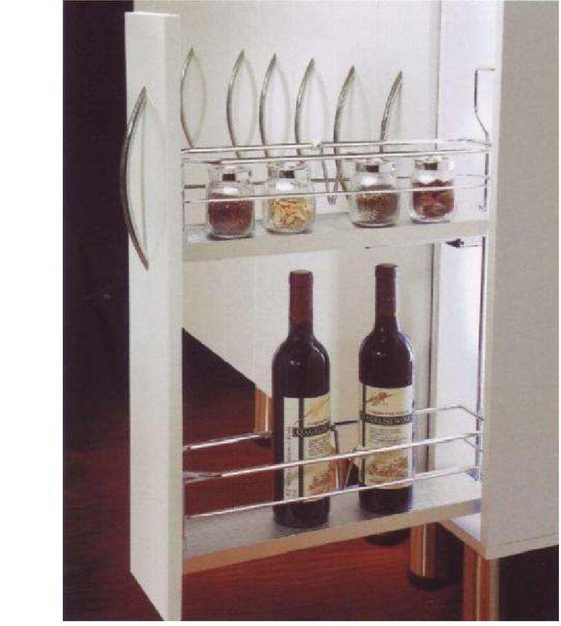 unterschrankauszug flaschenauszug apothekerauszug k chenauszug 150 mm links k chenschr nke. Black Bedroom Furniture Sets. Home Design Ideas