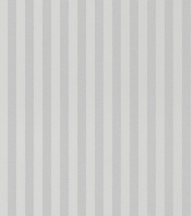 rasch trianon xi 515343 vlies tapete streifen gestreift grau wei silber tapeten tapeten. Black Bedroom Furniture Sets. Home Design Ideas