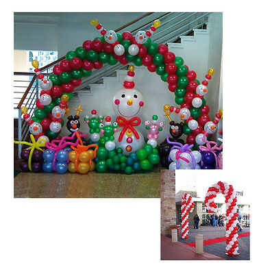 Christmas balloon arch 2 candy cane use air filled for Balloon arch no helium